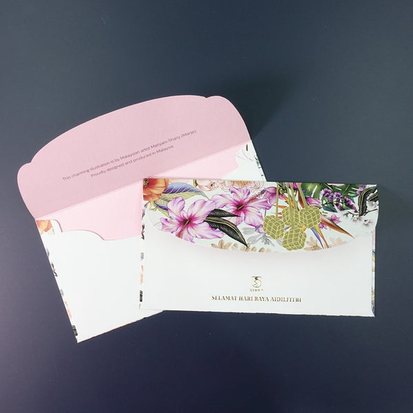 Floral Theme Premium Raya Packet | Sampul Raya