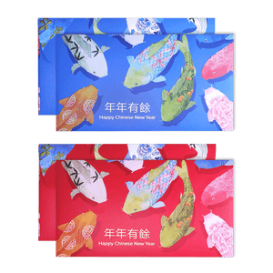 CNY Koi fish angpau packet illustration painted by Emila Yusof