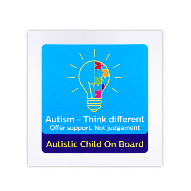 think different autism awareness car window sticker