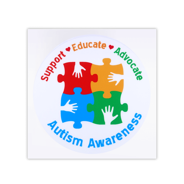 Support educate advocate autism awareness car window transparent sticker