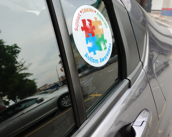 Support Educate Advocate | Autism Awareness Car Window Sticker