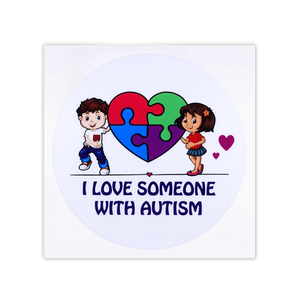 I Love Someone Autism Autism Awareness Car Window transparent Sticker