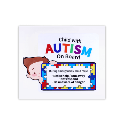 Child with Autism On Board Autism Awareness Car Window PP Sticker