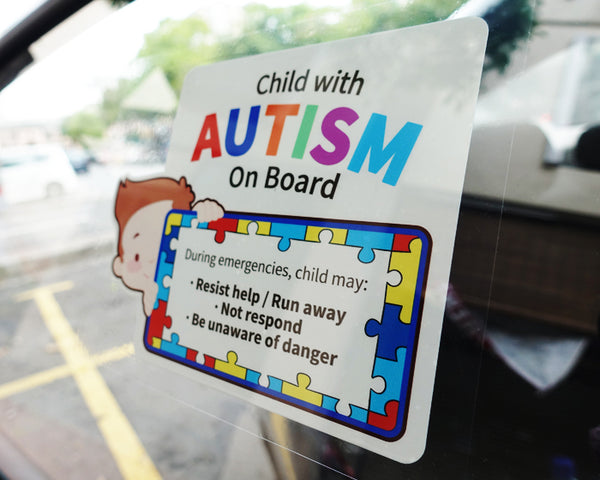 Child with Autism On Board | Autism Awareness Car Window Sticker