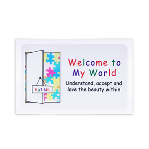 welcome to my world autism awareness car window sticker