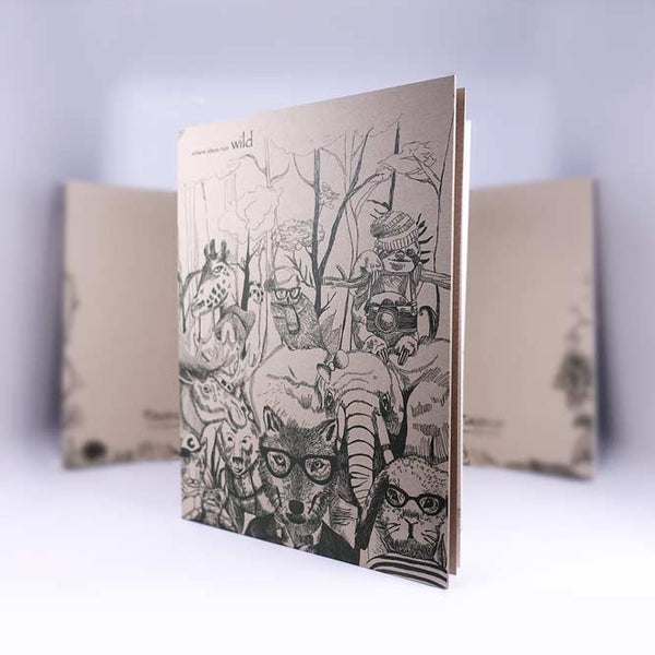 showcase wild life notebook by WildAge creative agency