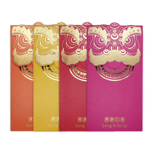 lion head vibrant series angpau packet