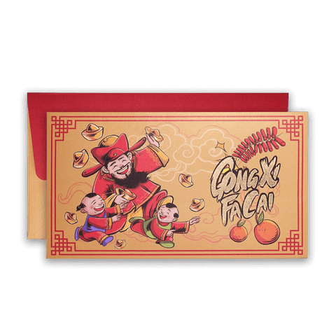 chai shen ye illustration cny gong xi fa cai angpau packet