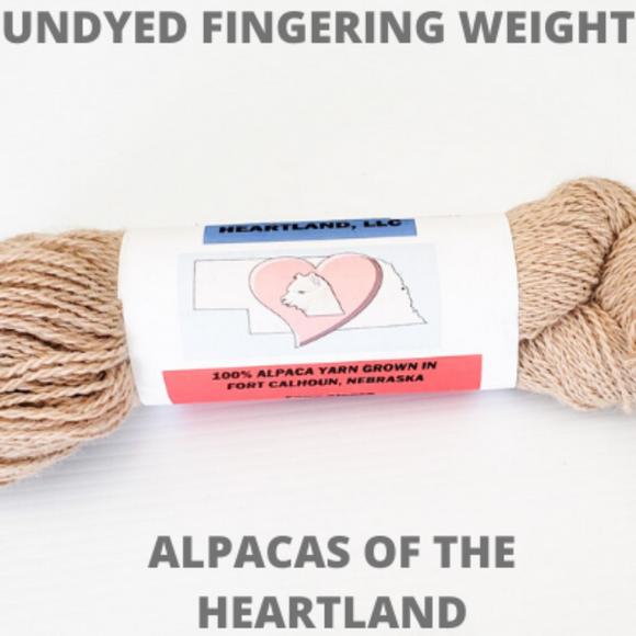 Alpacas of the Heart Land - Undyed Fingering Weight