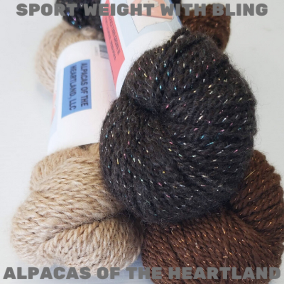 Alpacas of the Heartland - Sport Weight w/Bling