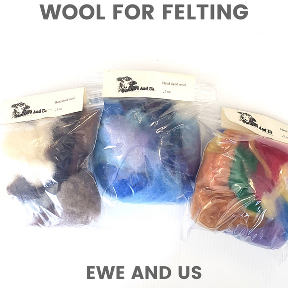 Needle Felting Wool Packs
