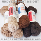 Alpacas of the Heartland - Undyed Sport Weight