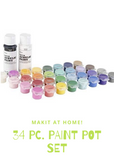 Darice 34 Pc. Paint Pot Set- Craft at Home