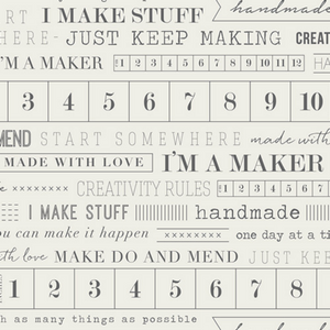 I Am A Maker Cotton Fabric