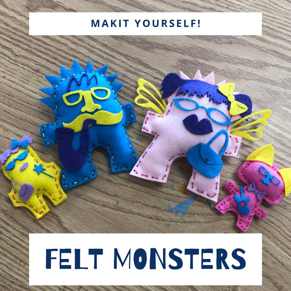 Felt Monsters Makit at Home Kit