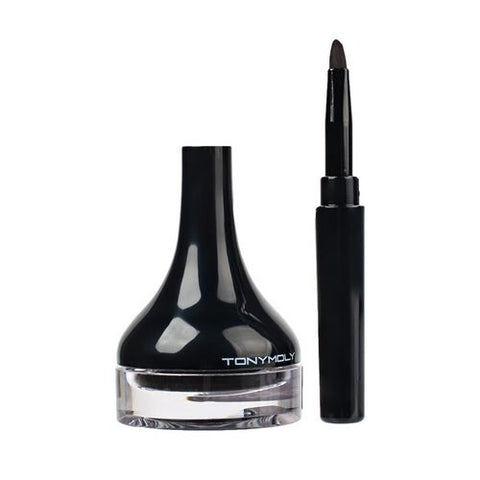 Back Gel Eyeliner Long Brush - 8 Colours (4g)