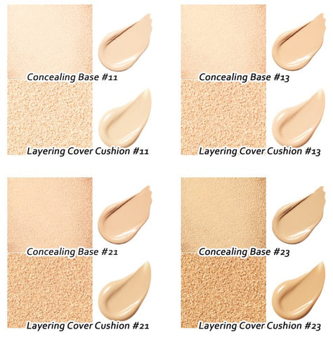Layering Cover Cushion & Concealing Base (SET) - 4 Shades (14g+2.5g)
