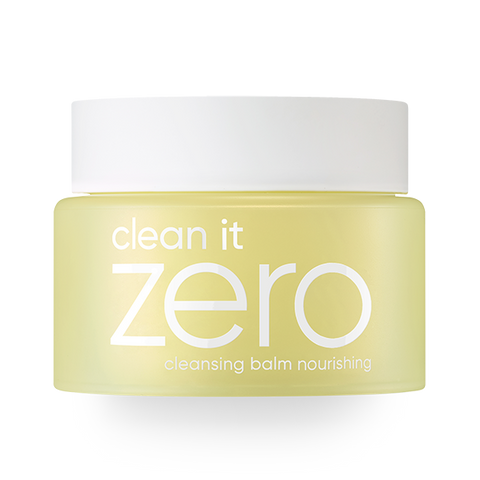 front view of the yellow BANILA CO Clean it zero nourishing cleansing balm