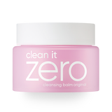 front view of the pink BANILA CO Clean it zero original cleansing balm