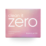 front view of the pink outer box of BANILA CO Clean it zero original cleansing balm