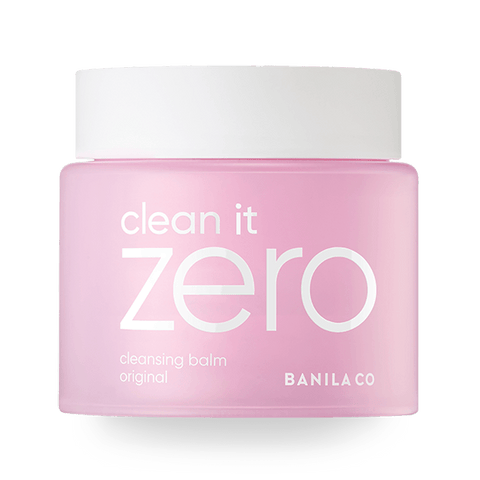 front view of the pink BANILA CO Clean it zero original jumbo cleansing balm