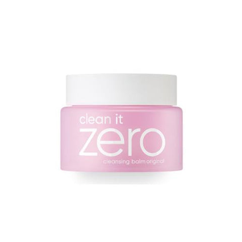 front view of the mini  pink BANILA CO Clean it zero original cleansing balm