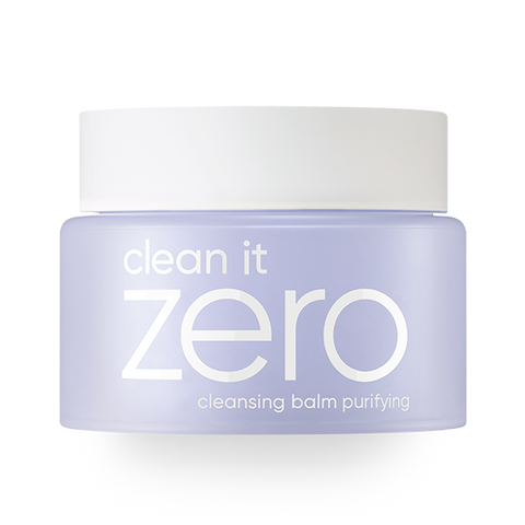 front view of the purple BANILA CO Clean it zero purifying cleansing balm