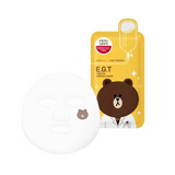 MEDIHEAL Line Friends e.g.t timetox ampoule mask inside view of mask with brown bear character on the front of the sheet.