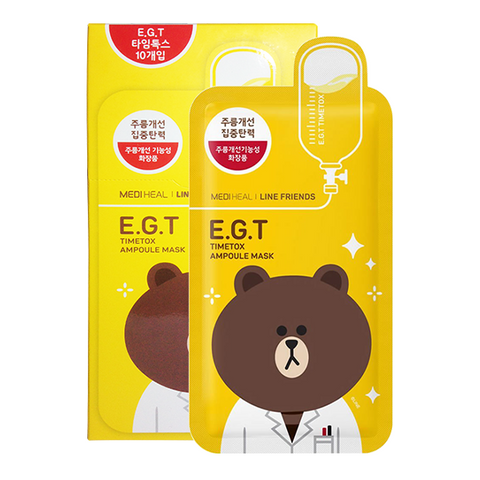 E.G.T Timetox Ampoule Mask - 10pc BOX (Line Friends Edition)