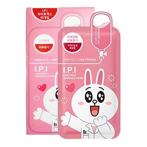 I.P.I Lightmax Ampoule Mask - 10pc PACK (Line Friends Edition)