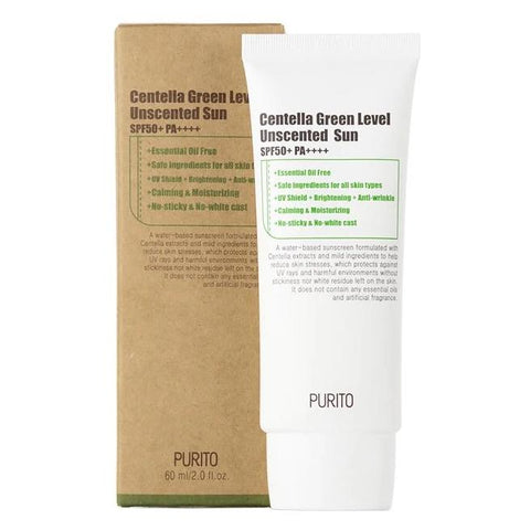 Centella Green Level Unscented Sun SPF50+ PA++++ (60ml)