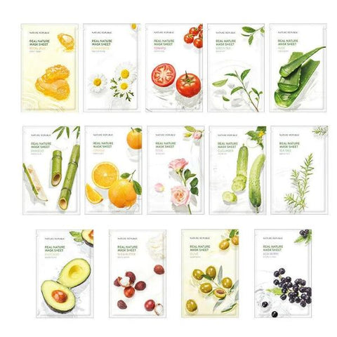 Real Nature Mask Sheet 1pc - 14 Types