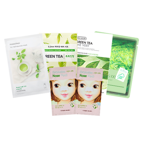 Green Tea Favourites Mask SET (Inc. 6 Masks)