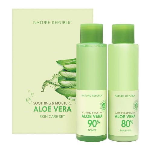 Soothing & Moisture Aloe Vera 2 Steps Set (160ml+160ml)