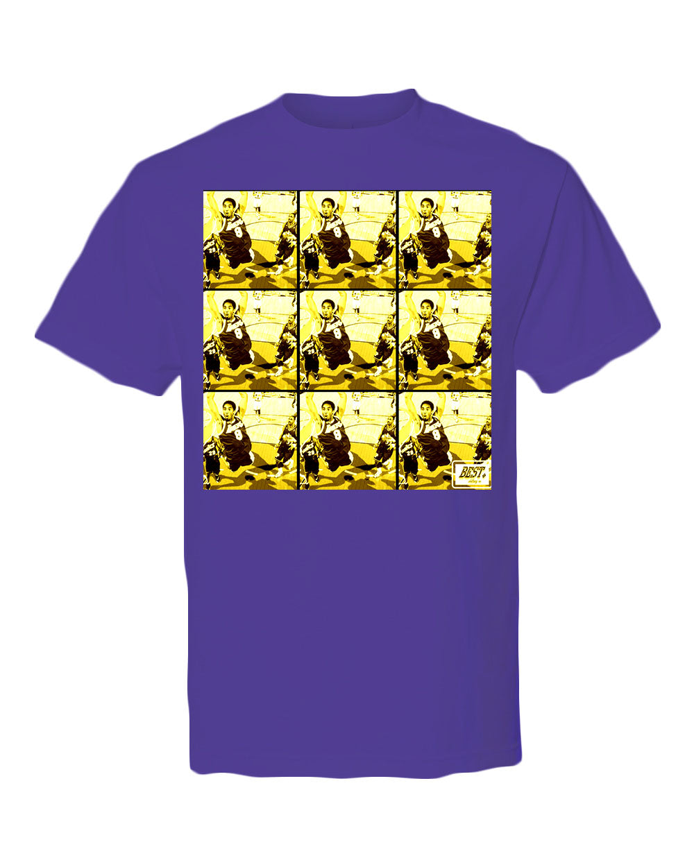 Kobe Bryant Dunking Purple/ Yellow T Shirt : Kobe Legacy Collection