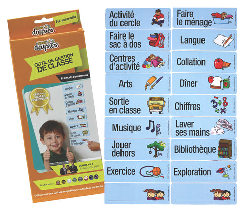 FRENCH Teacher's Classroom Schedule - Preschool / Kindergarten