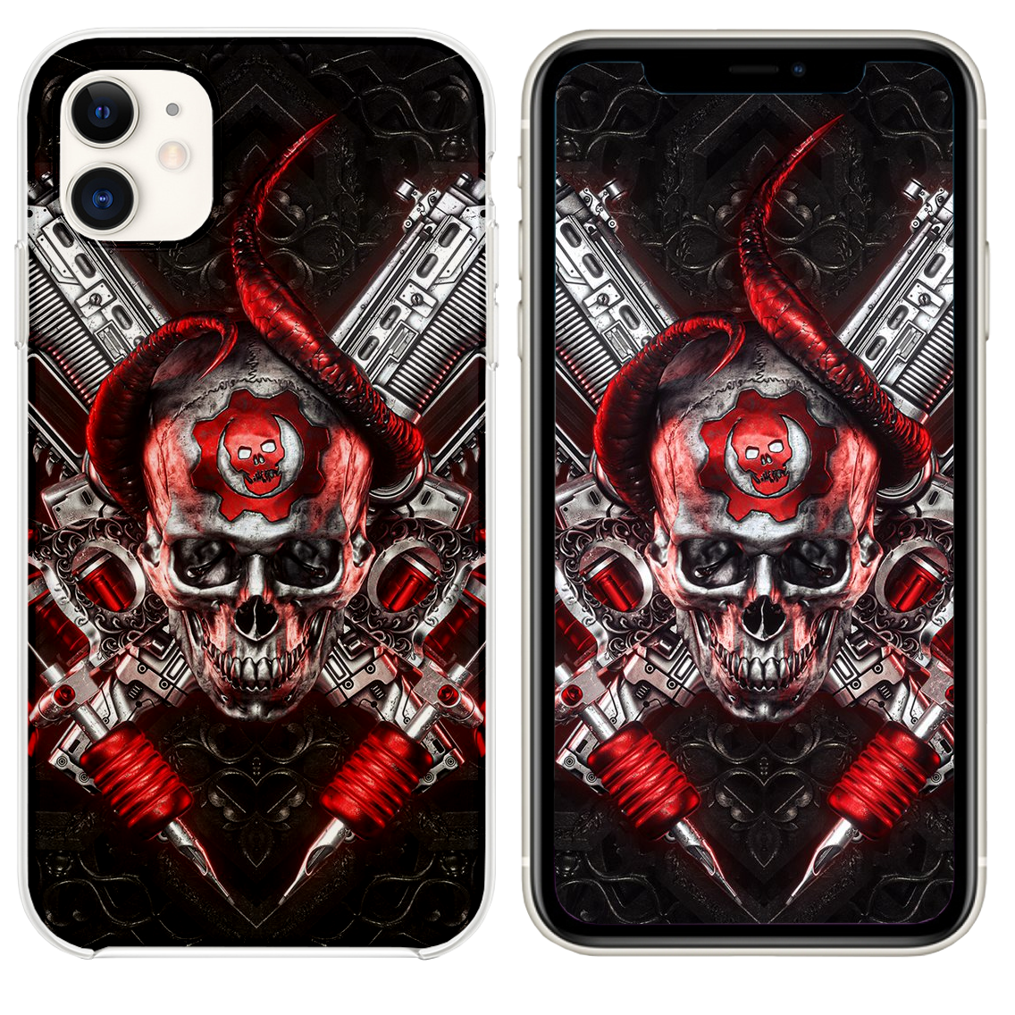 4k Gears Of War Logo Art Iphone 11 Case Cover And Wallpaper Case