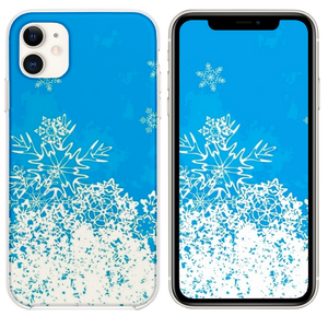 Abstract Christmas Snowflake Pattern Background iPhone 11 case