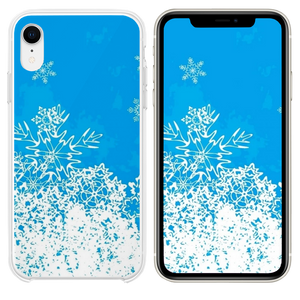 Abstract Christmas Snowflake Pattern Background iPhone XR case