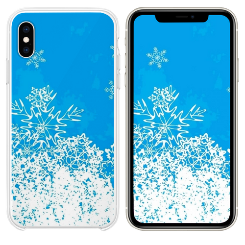 Abstract Christmas Snowflake Pattern Background iPhone XS case