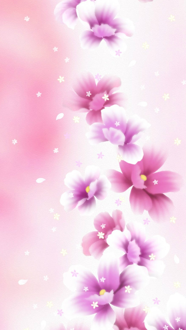 Abstract Pink Blossom Bouquet Iphone 11 Pro Max Wallpaper