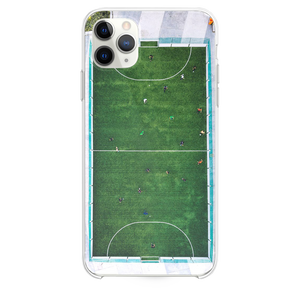 aerial photography of people playing soccer iPhone 11 Pro Max case