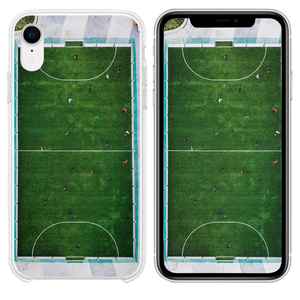 aerial photography of people playing soccer iPhone XR case