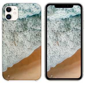 aerial photography of rampaging sea during daytime iPhone 11 case
