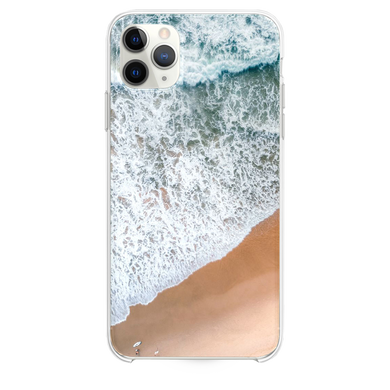 aerial photography of rampaging sea during daytime iPhone 11 Pro Max case