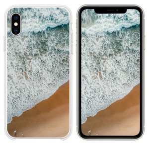 aerial photography of rampaging sea during daytime iPhone XS case