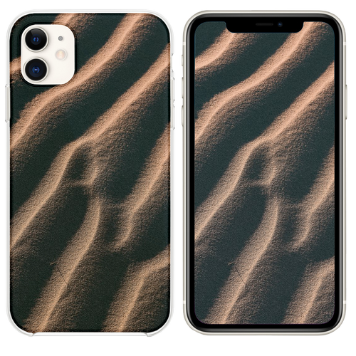 aerial view photography of sand iPhone 11 case