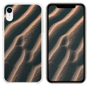 aerial view photography of sand iPhone XR case