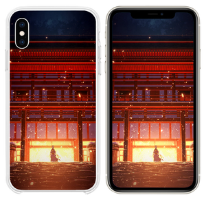Anime Painting Temple Red Art Illustration iPhone XS case
