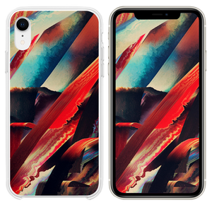 Art paint pattern red dark abstract iPhone XR case